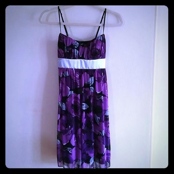 Ruby Rox Dresses & Skirts - Purple Sleeveless Floral Dress